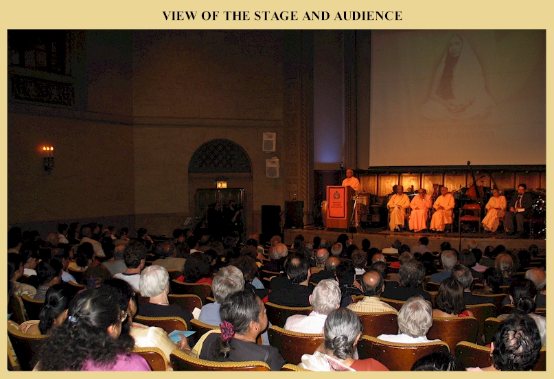 View of the stage and audience.