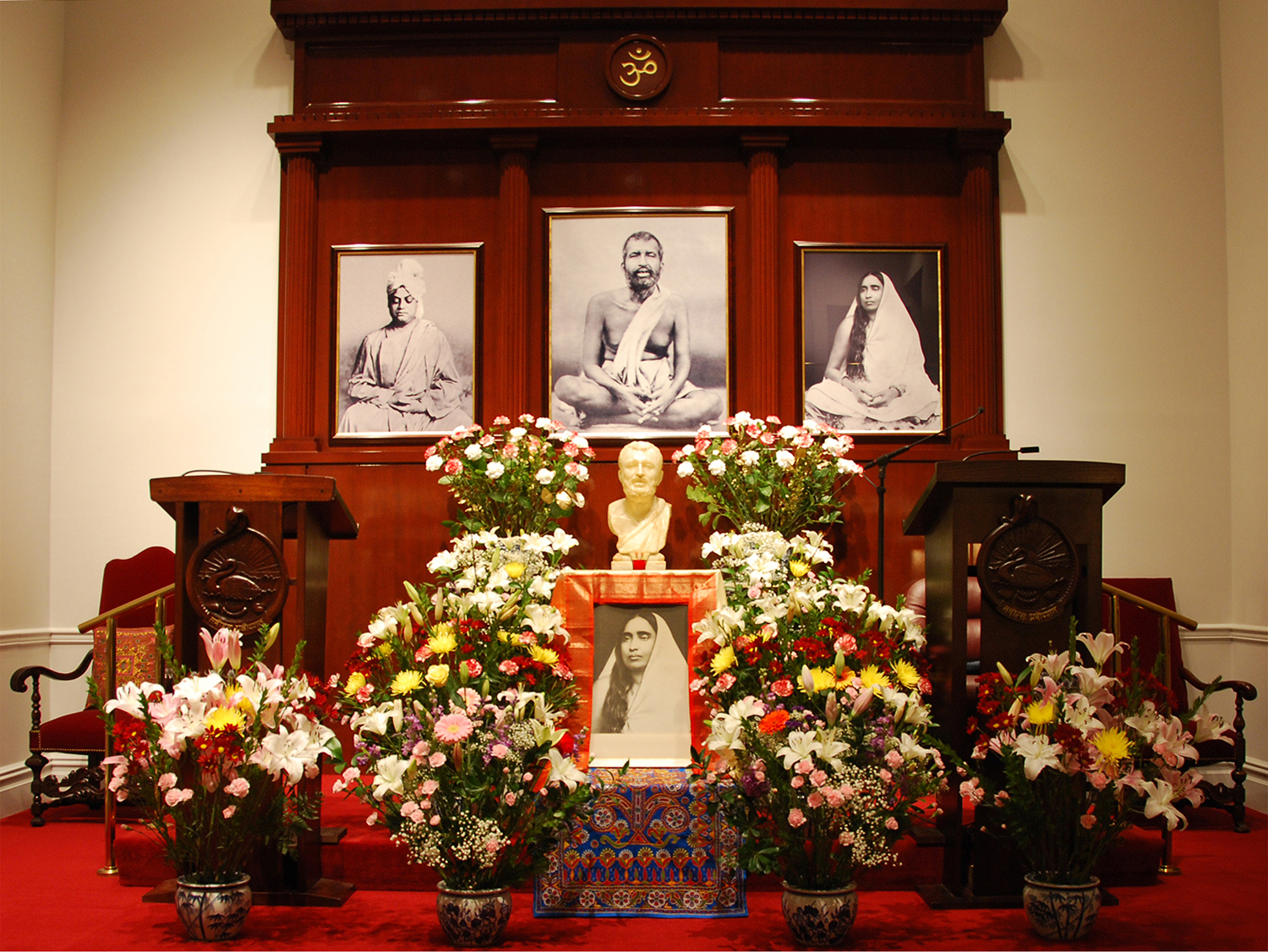 Altar decorated for Holy Mother birthday celebration