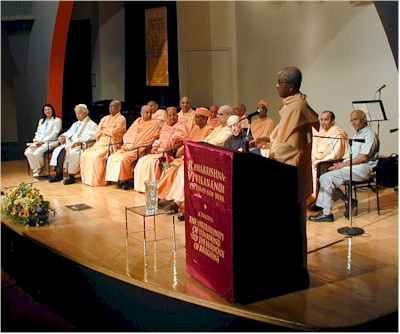 Swami Vivekananda Welcoming the Distinguished Participants.